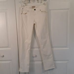 CAbi Jean's All white Jean style #752 size 4
